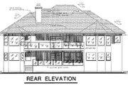 Mediterranean Style House Plan - 4 Beds 3 Baths 2481 Sq/Ft Plan #18-173 Exterior - Rear Elevation