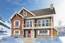 Dream House Plan - Traditional Exterior - Front Elevation Plan #23-2046