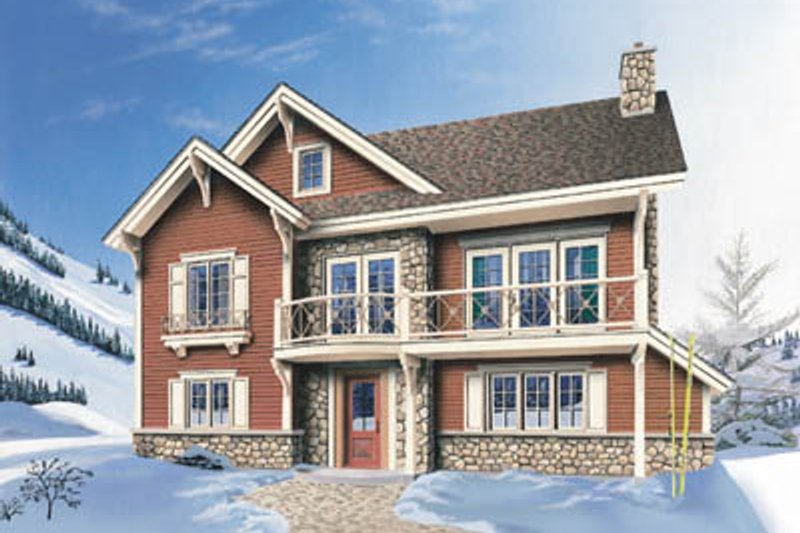Traditional Style House Plan - 3 Beds 2 Baths 1921 Sq/Ft Plan #23-2046 Exterior - Front Elevation