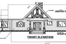 Log Exterior - Other Elevation Plan #117-105