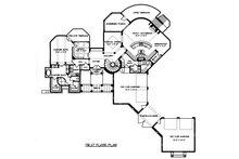 Mediterranean Floor Plan - Main Floor Plan Plan #413-134