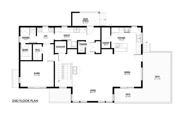 Craftsman Floor Plan - Main Floor Plan Plan #890-12