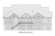 Classical Style House Plan - 4 Beds 3.5 Baths 5298 Sq/Ft Plan #1054-81 Exterior - Rear Elevation