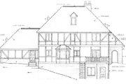 European Style House Plan - 4 Beds 2.5 Baths 2496 Sq/Ft Plan #10-253 Exterior - Rear Elevation