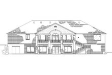 Home Plan - Traditional Exterior - Rear Elevation Plan #5-269