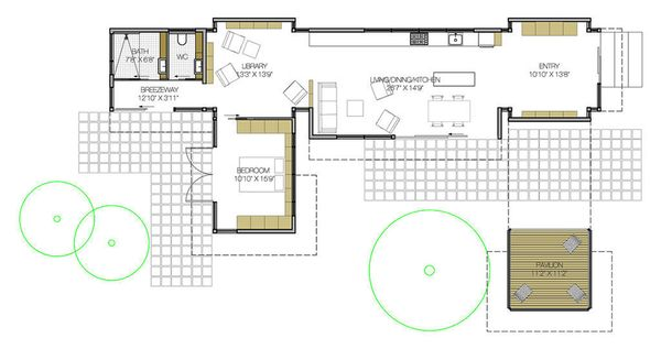 Modern Floor Plan - Main Floor Plan Plan #897-2