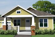 Craftsman Style House Plan - 3 Beds 2 Baths 1563 Sq/Ft Plan #461-13 Exterior - Other Elevation
