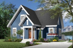 Country Exterior - Front Elevation Plan #23-2264