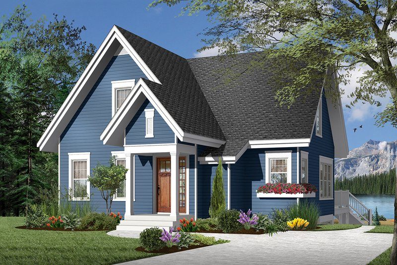 Home Plan - Country Exterior - Front Elevation Plan #23-2264