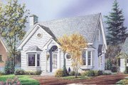 Cottage Style House Plan - 3 Beds 2.5 Baths 1258 Sq/Ft Plan #23-216 Exterior - Front Elevation