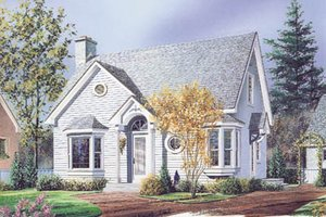 Cottage Exterior - Front Elevation Plan #23-216