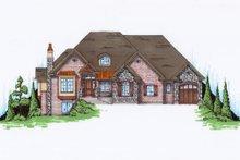 Dream House Plan - European Exterior - Front Elevation Plan #5-455