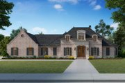 Country Style House Plan - 4 Beds 3.5 Baths 4076 Sq/Ft Plan #1074-20 Exterior - Front Elevation