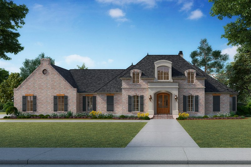 Architectural House Design - Country Exterior - Front Elevation Plan #1074-20