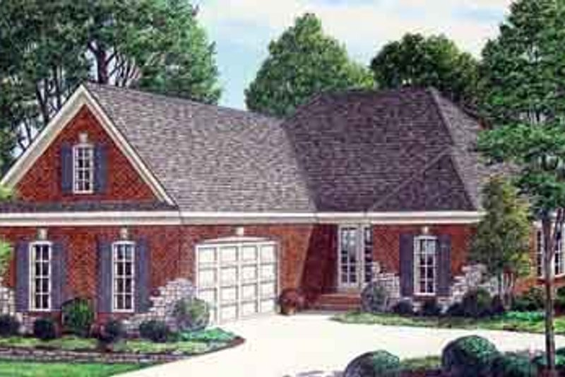 Southern Exterior - Front Elevation Plan #34-183