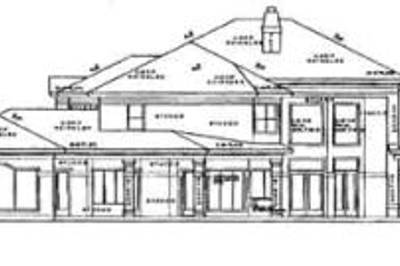 European Exterior - Rear Elevation Plan #61-192 - Houseplans.com