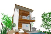 Modern Style House Plan - 3 Beds 3 Baths 1505 Sq/Ft Plan #484-3 Exterior - Rear Elevation