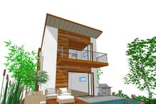 Modern Exterior - Rear Elevation Plan #484-3
