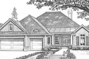 European Exterior - Front Elevation Plan #310-418