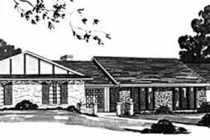 Ranch Exterior - Front Elevation Plan #36-395