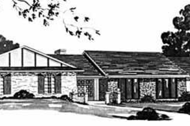 Dream House Plan - Ranch Exterior - Front Elevation Plan #36-395