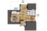 Contemporary Style House Plan - 3 Beds 2.5 Baths 2453 Sq/Ft Plan #25-4263 Floor Plan - Upper Floor Plan