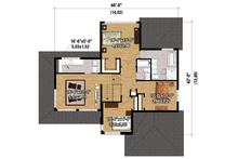 Contemporary Floor Plan - Upper Floor Plan Plan #25-4263