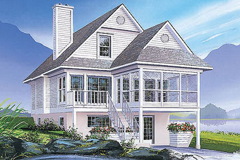 Cottage Exterior - Front Elevation Plan #23-2024