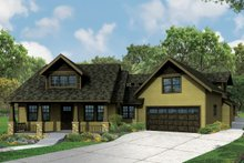 Architectural House Design - Craftsman Exterior - Front Elevation Plan #124-979
