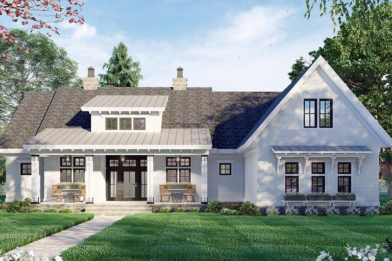 Dream House Plan - Farmhouse Exterior - Front Elevation Plan #51-1171