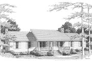 Ranch Style House Plan - 3 Beds 2 Baths 1930 Sq/Ft Plan #10-106 Exterior - Front Elevation