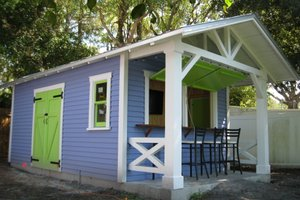 Cottage Exterior - Front Elevation Plan #922-2