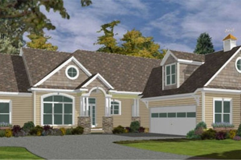 Bungalow Style House Plan - 3 Beds 3.5 Baths 2910 Sq/Ft Plan #63-225 Exterior - Front Elevation