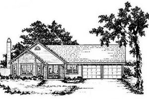 Home Plan - Traditional Exterior - Front Elevation Plan #36-111