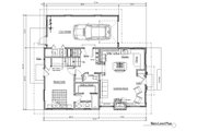 Craftsman Style House Plan - 4 Beds 2 Baths 1648 Sq/Ft Plan #451-7 Floor Plan - Main Floor Plan