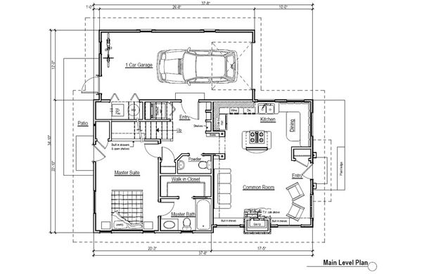 Craftsman Floor Plan - Main Floor Plan Plan #451-7