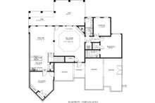Craftsman Floor Plan - Lower Floor Plan Plan #437-59