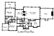 Craftsman Style House Plan - 4 Beds 4 Baths 3440 Sq/Ft Plan #921-11 Floor Plan - Lower Floor Plan