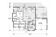 Craftsman Style House Plan - 4 Beds 3 Baths 1898 Sq/Ft Plan #56-710 Floor Plan - Main Floor Plan