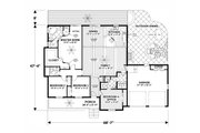 Craftsman Style House Plan - 4 Beds 3 Baths 1898 Sq/Ft Plan #56-710 Floor Plan - Main Floor Plan
