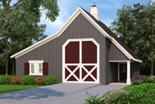 Dream House Plan - Country Exterior - Front Elevation Plan #45-427