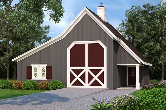 Country Exterior - Front Elevation Plan #45-427