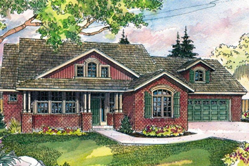 Craftsman Exterior - Front Elevation Plan #124-423