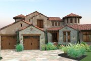 European Style House Plan - 4 Beds 4.5 Baths 4373 Sq/Ft Plan #120-177 Exterior - Front Elevation
