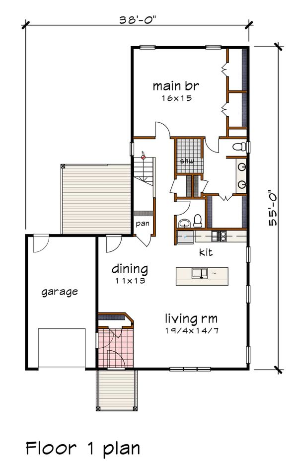 Dream House Plan - Modern Floor Plan - Main Floor Plan #79-320