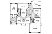 Mediterranean Style House Plan - 4 Beds 3 Baths 2527 Sq/Ft Plan #417-281 Floor Plan - Main Floor Plan