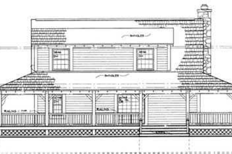Farmhouse Exterior - Rear Elevation Plan #72-110 - Houseplans.com