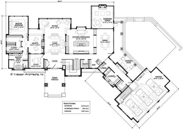 Dream House Plan - Contemporary Floor Plan - Main Floor Plan #928-287