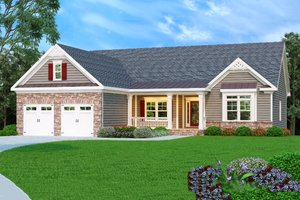 Country Exterior - Front Elevation Plan #419-130