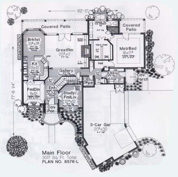 European Floor Plan - Main Floor Plan #310-904